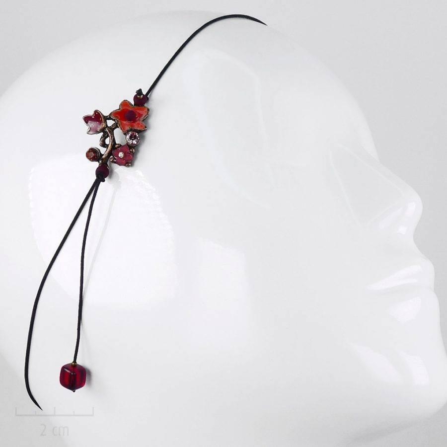 Accessoire pour cheveux enfant 2, bijou de tête, élastique cheveux ou collier pendentif. NATURE: végétal, feuille de lierre orange, rouge pour femme ou enfant. Sébicotane, Zor