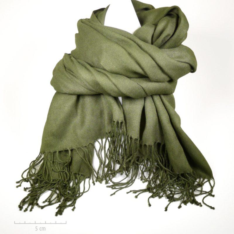 Grande étole unie vert kaki unisexe. Doux foulard style plaid pashmina pour  homme, femme 0632fd82046