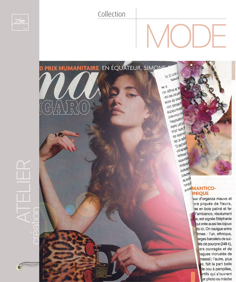 article figaro madame atelier creation bijoux fantaisies zor paris