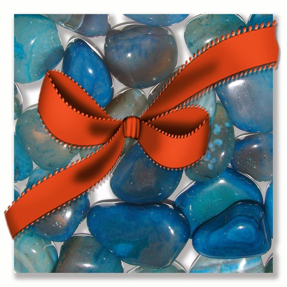 Petite pampille surprise, pierre semi-précieuse pour un cadeau divinatoire et porte bonheur. Pour homme, femme, ado, enfant. Création Zor