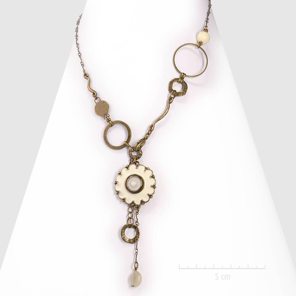 96ea3da0963 Collier pendentif ésotérique et design bohème rétro. Parure discrète avec  agate fine. Pierre naturelle