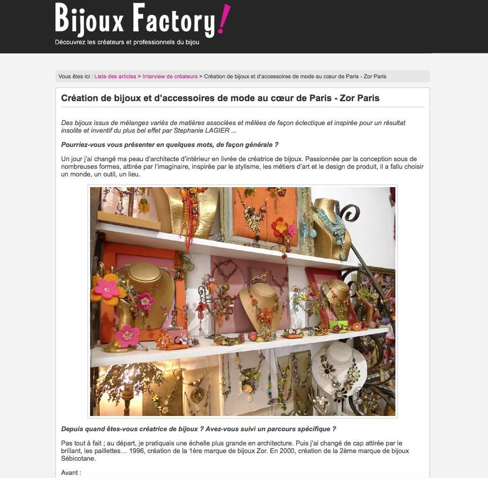 Interview de la créatrice de bigoux Zor par Bijoux Factory
