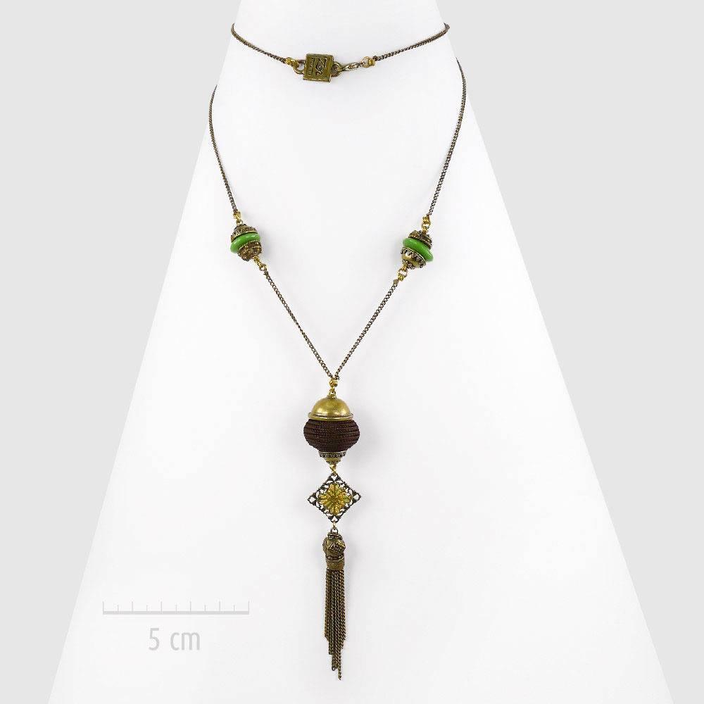 30 cm Porte-bijoux oriental Bois Buste en bois Pour colliers T3