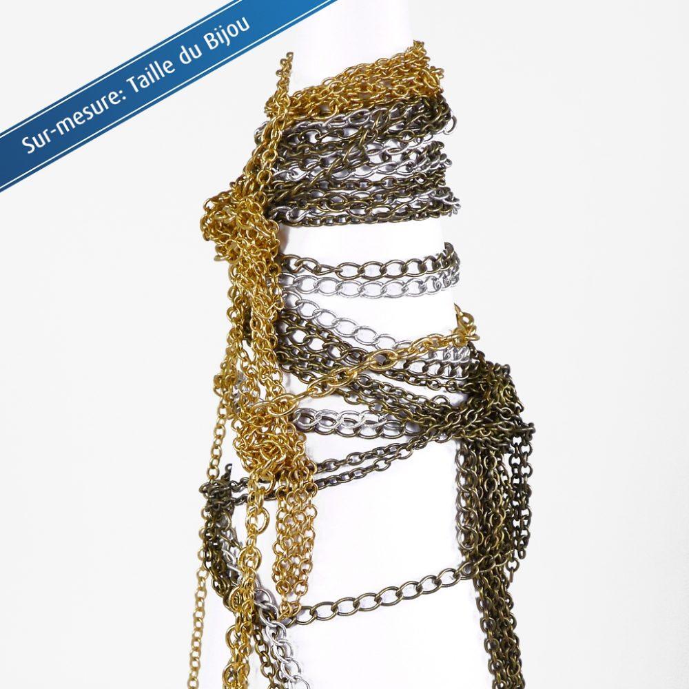 Option Sur-mesure longueur à la demande. Son bijou perso: contact direct avec l'atelier, customisation de chaîne pour bracelet, pendentif, collier. Création ZOR