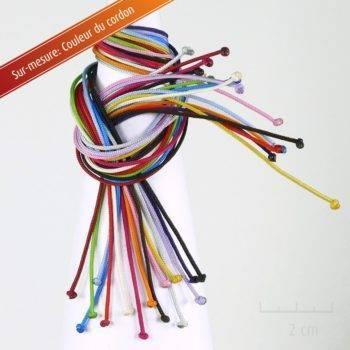 Option Sur-mesure cordon pour créer à la demande son bijou perso. Contact direct avec le créateur, customisation de couleur de lacet pour bracelet. Création ZOR Atelier