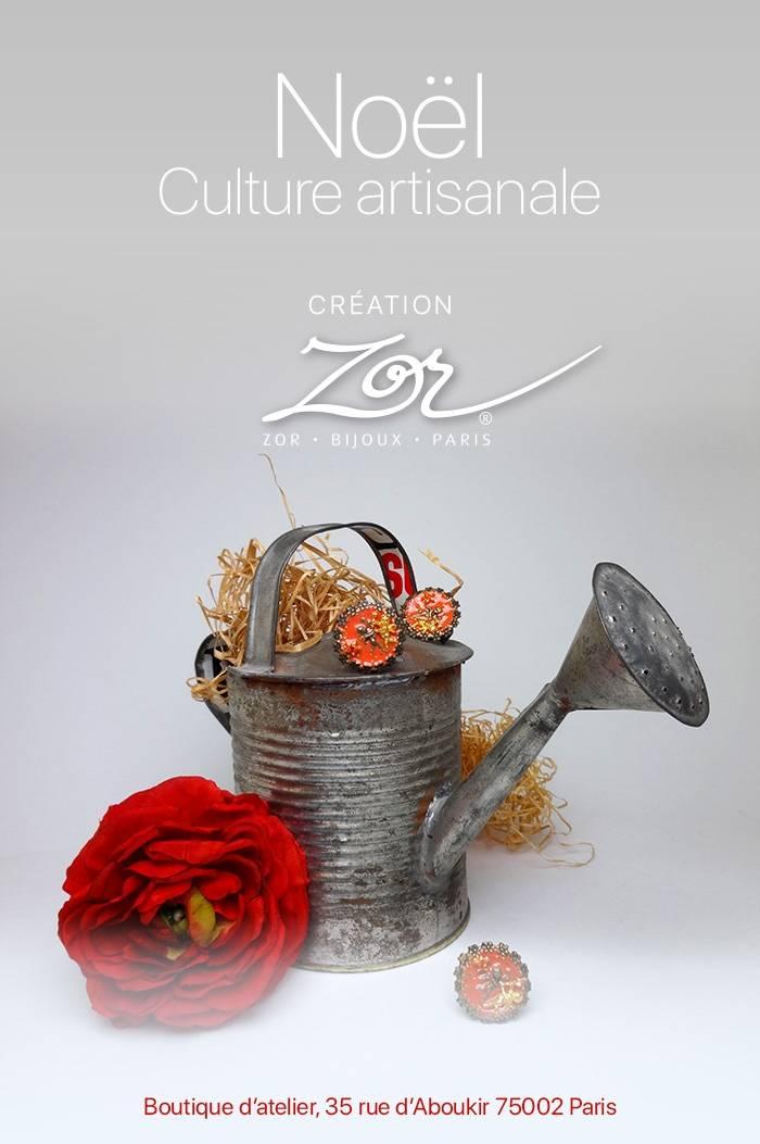 Bijou fantaisie, Création Zor Boutique artisanale rue d'Aboukir Paris 02 face à Fuumi. MétroSentier, Bourse, Les Halles, Étienne Marcel