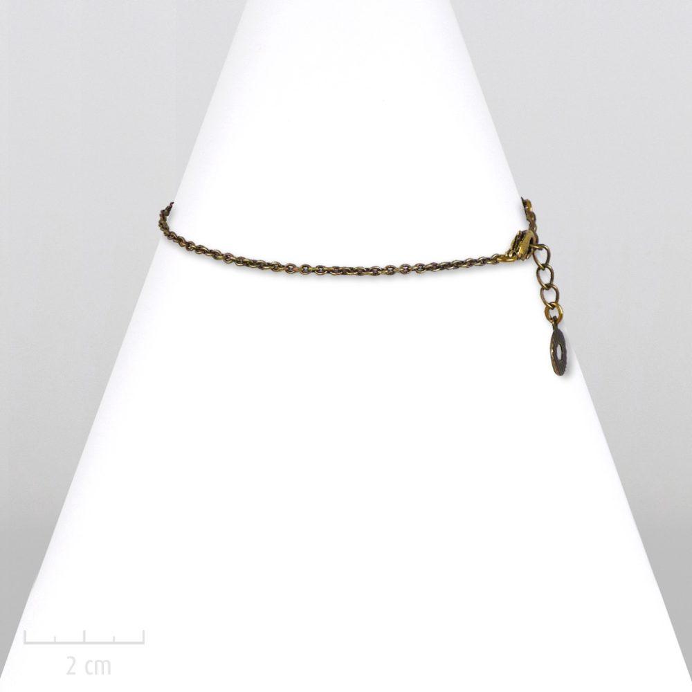 Bracelet unisexe, chaîne fine bronze pour enfant fille garçon. Style moderne chic, classique rock. Gourmette basic au masculin. Création Zor