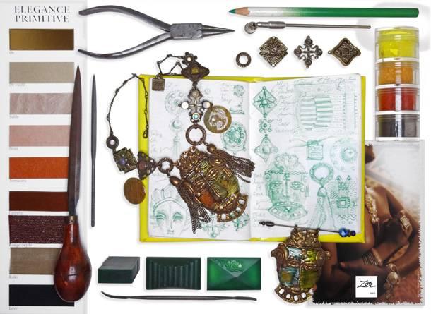 Création de bijoux authentiques et ethniques. Zor parurier, l'Afrique à Paris, imagination exotique envoutante. Savoir-faire, label metier d'art