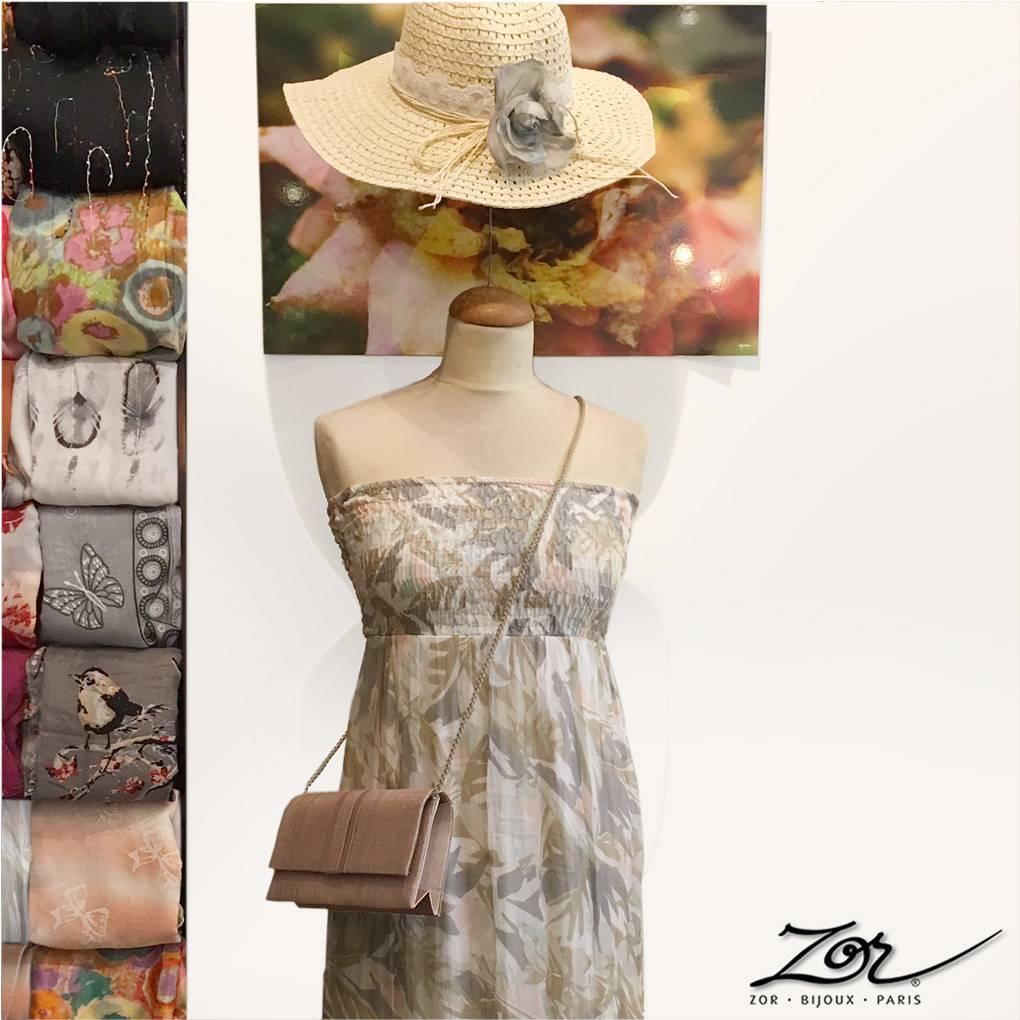 Mode & accessoires: bijou fantaisie de créateur, sacs, chapeaux, étoles, vêtements, robes, bibi. Boutique Zor création