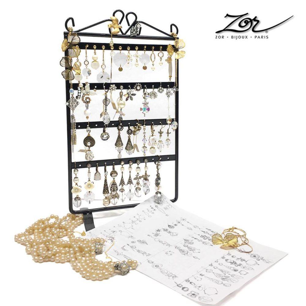 Boucles d'oreilles mariées, dorées à l'or fin, argentées, bronze vintage. Création sur-mesure, perle, nacre, pierre fine, cristal. Création Zor Paris