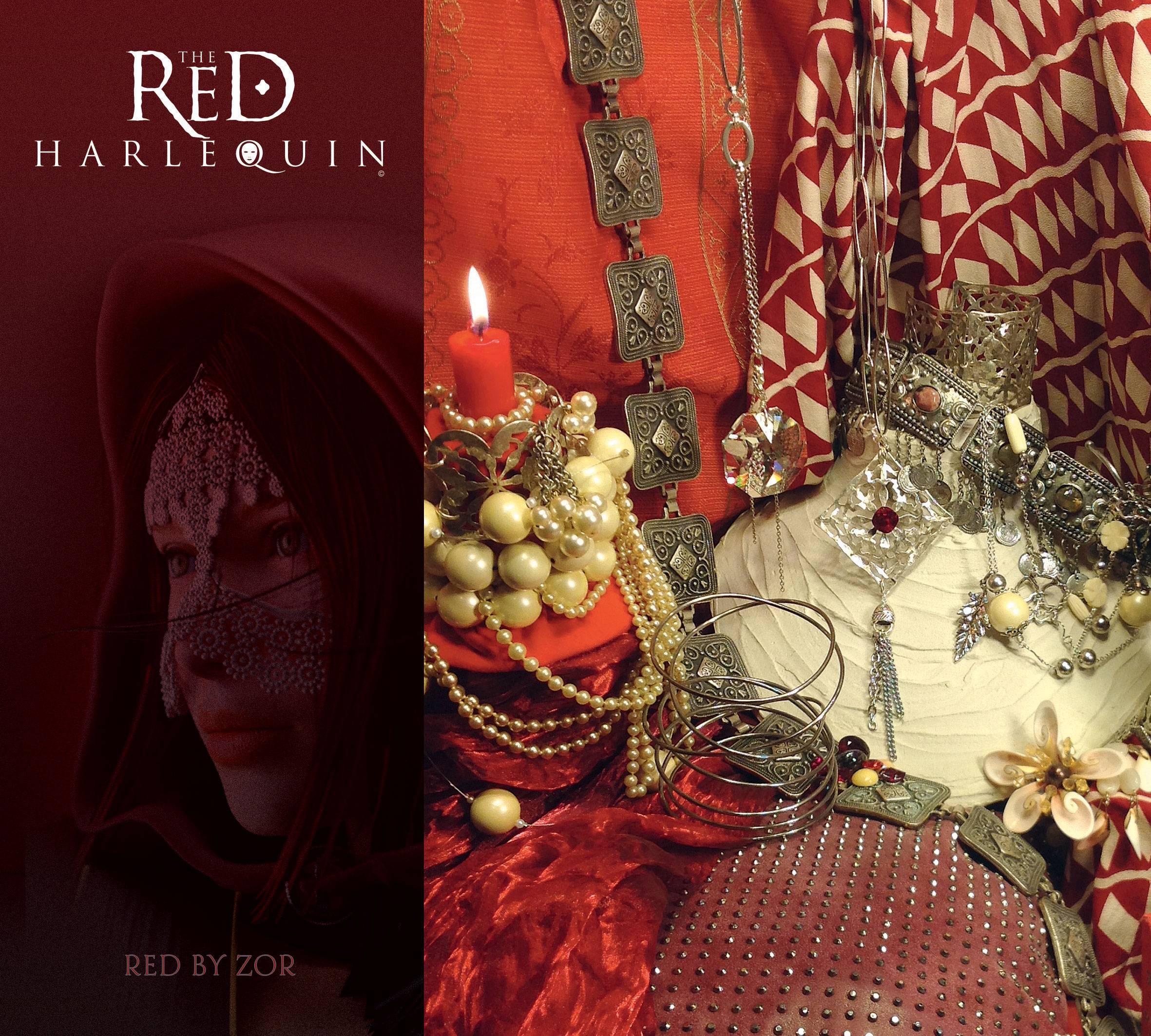 The Red Harlequin TRH - L'Arlequin Rouge la Saga, roman d'aventure de l'écrivain Roberto Ricci. Licence: Creation Zor Bijoux Paris
