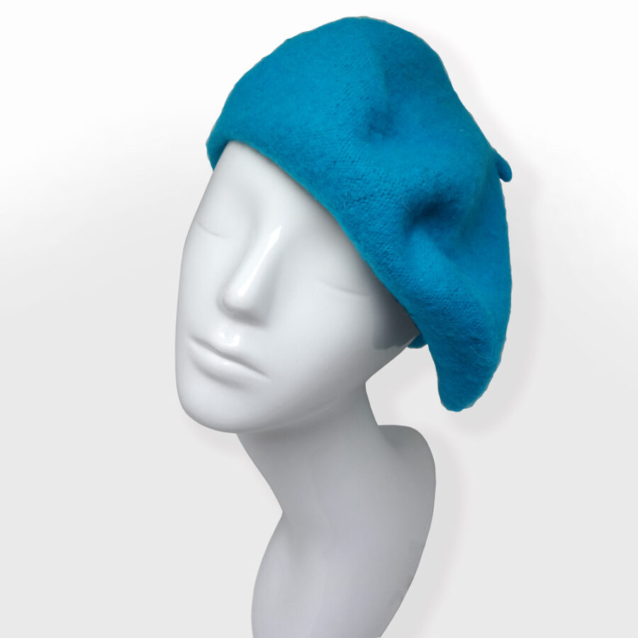 Chapeau: cloche, casquette ou béret 100% laine. Turquoise bleu en boutique Zor Paris 2 création Made in France