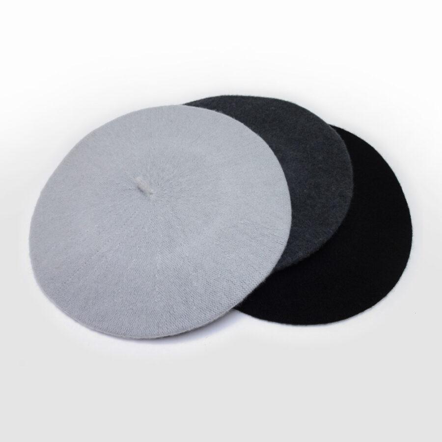 Chapeau: cloche, casquette ou béret 100% laine. Feutre gris ou noir en boutique Zor Paris création Made in France