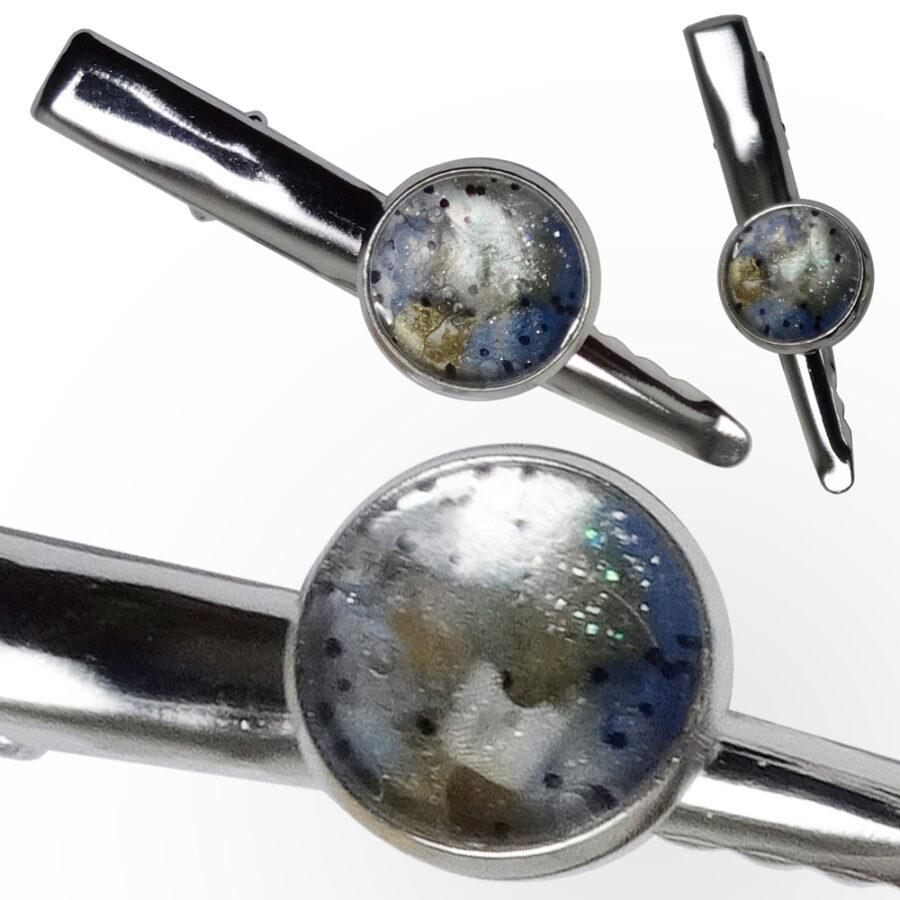 Pince à tout Zodiaque: bijou astral pour femme et homme. Planète bleue opale. Création Zor Paris 5