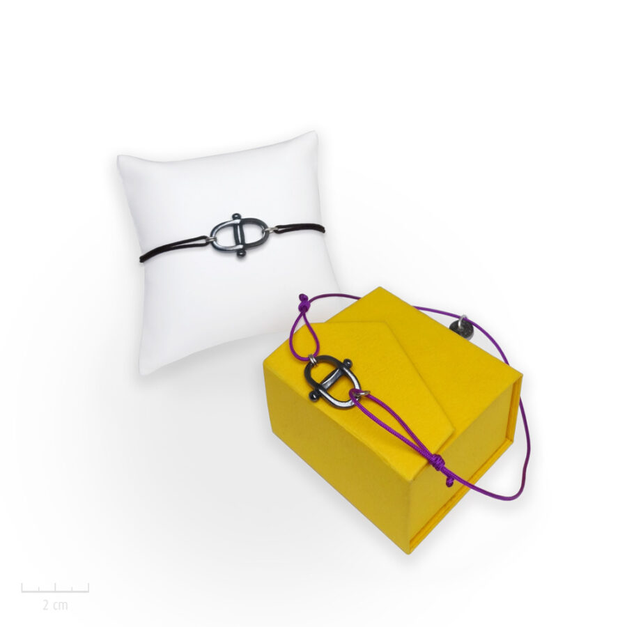 Bracelet Homme Manille à cordage réglable. Bijou marin au masculin par Zor création Paris 1
