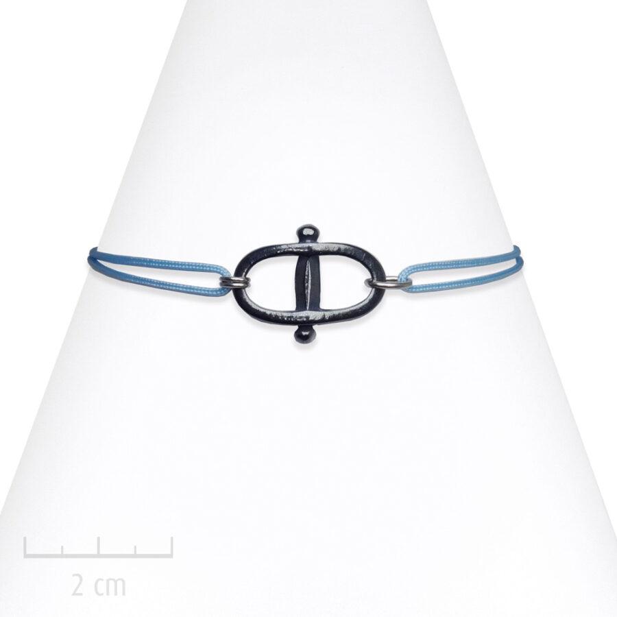 Bracelet Homme Manille à cordage réglable. Bijou marin au masculin par Zor création Paris 2