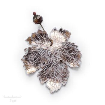 Pic Broche pendentif bohème. Grande feuille fibule vintage, création de bijou Zor Paris 1